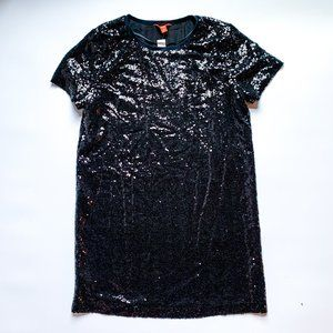Joe Fresh Black Sequin Tee Dress
